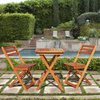 VIFAH Glaser 3-Piece Wood Patio Bistro Set