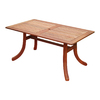 VIFAH Atlantic 59-in x 36-in Wood Rectangle Patio Dining Table