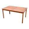 VIFAH Balthazar 59-in x 32-in Wood Rectangle Patio Dining Table