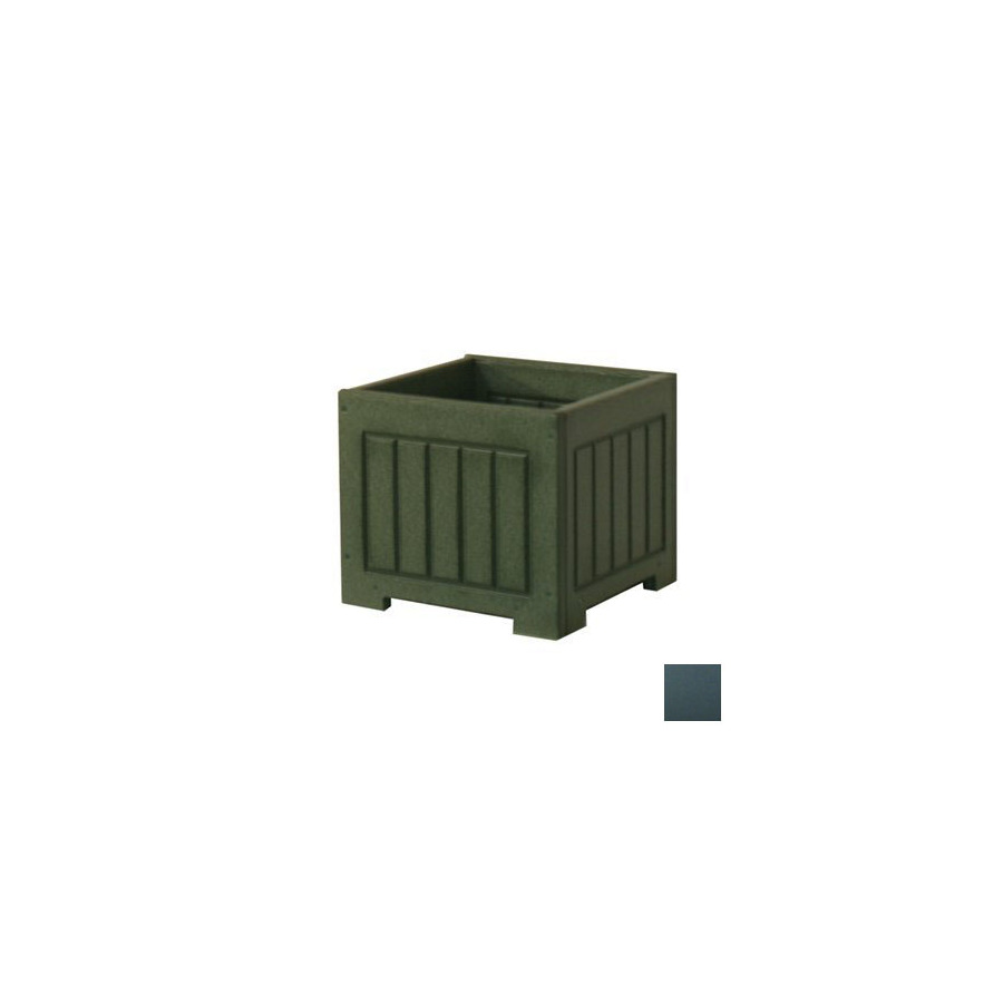Eagle One 12 in H x 17 in W x 16 in D Black Indoor/Outdoor Planter