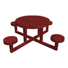 Ofab Burgundy Translucent Cast Aluminum Round Picnic Table
