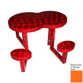 Shop Ofab Orange Cast Aluminum Picnic Table with Benches at Lowes.