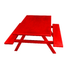 Ofab Red Cast Aluminum Rectangle Picnic Table