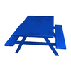 Ofab Blue Cast Aluminum Rectangle Picnic Table