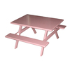 Ofab Pink Cast Aluminum Rectangle Picnic Table