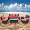 TOSH Furniture 6-Piece Patio Conversation Set