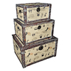 Cheung's Set of 3 Multicolor Rectangular Wood Ladies Decorative Trunks