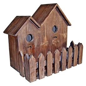 Cheung's 13.75-in W x 13-in H x 8.75-in D Brown Bird House