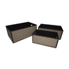 Cheung's Set of 3 Rectangular Checker Design Storage Boxes