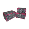 Cheung's Set of 3 Rectangular Zebra with Pink Border Large Trunks