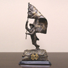 Wild Sports Metal Notre Dame Leprechaun Sculpture
