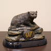 Wild Sports Metal Wisconsin Badgers Sculpture