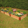 Scenery Solutions 144-in W x L x 12-in H Brown Cedar Raised Garden Bed