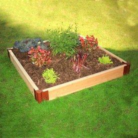 Scenery Solutions 48-in W x L x 12-in H Brown Cedar Raised Garden Bed