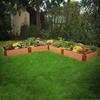 Scenery Solutions 144-in W x 12-in H Composite Raised Garden Bed
