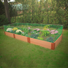 Scenery Solutions 144-in W x 48-in L x 12-in H Brown Composite Raised Garden Bed