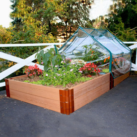 Scenery Solutions 96-in W x L x 12-in H Brown Composite Raised Garden Bed