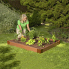 Scenery Solutions 48-in W x L x 6-in H Brown Composite Raised Garden Bed