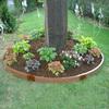Scenery Solutions 125-in W x 125-in L x 6-in H Wood Grain Plastic Raised Garden Bed