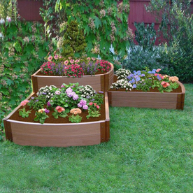 Shop Scenery Solutions 96 In Brown Composite Raised Garden