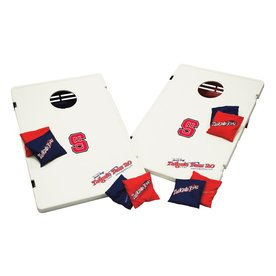 Wild Sports North Carolina State University Wolfpack Outdoor Corn Hole Party Game with Case