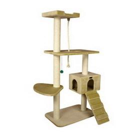 Armarkat 58-in Beige Faux Fur 3-Level Cat Tree