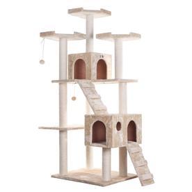 Armarkat 74-in Beige Faux Fur 8-Level Cat Tree