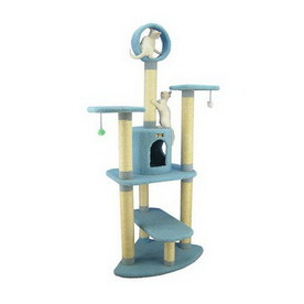 Armarkat 66-in Blue Fleece 7-Level Cat Tree