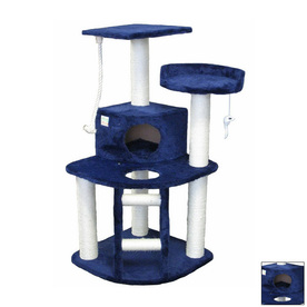 Go Pet Club 47.5-in Blue Faux Fur 8-Level Cat Tree
