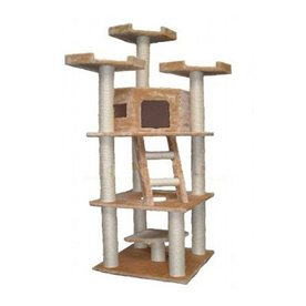 Go Pet Club 78-in Beige Faux Fur 10-Level Cat Tree