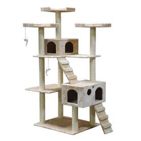 Go Pet Club 72-in Beige Faux Fur 15-Level Cat Tree