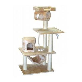 Go Pet Club 62-in Beige Faux Fur 8-Level Cat Tree