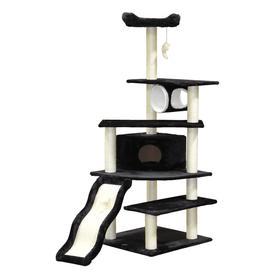 Go Pet Club 70-in Black Faux Fur 8-Level Cat Tree