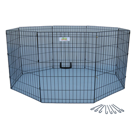 Go Pet Club 42-in x 24-in Black Indoor/Outdoor Exercise Pen