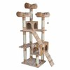 kitty mansions Bel Air 73-in Off-White Faux Fur Cat Tree