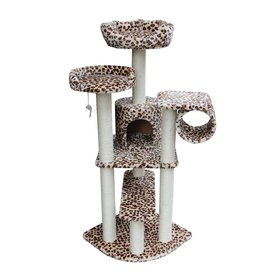 kitty mansions Safari 65-in Multiple Colors/Finishes Faux Fur Cat Tree