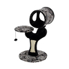 midwest pets Catitude 31-in Black Faux Fur 3-Level Cat Tower