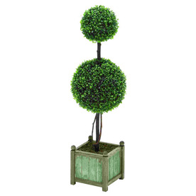 Woodland Imports Boxwood Decorative Specialty Tree without Lights