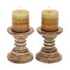 Woodland Imports Wood Candle Holder