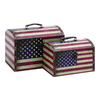 UMA Enterprises Set of 2 Rectangular American Treasure Boxes