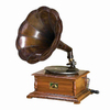 Woodland Imports Wood and Brass Gramophone
