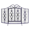 Woodland Imports 60-in 3-Panel Arched Twin Fireplace Screen