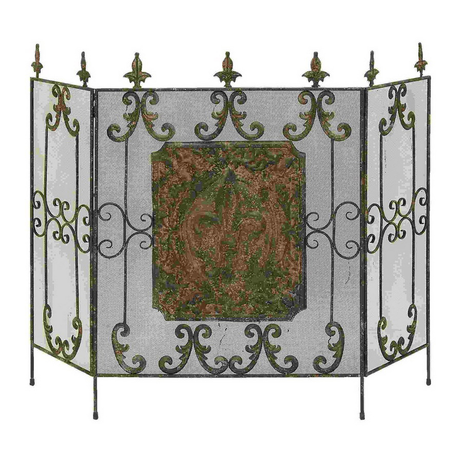 shop woodland imports brass metal fireplace screen at