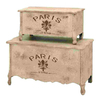 UMA Enterprises Set of 2 Rectangular Paris Storage Boxes