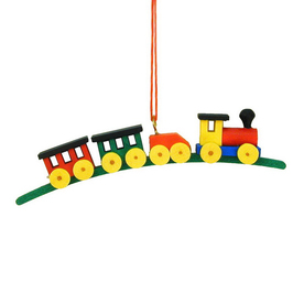 Alexander Taron Multicolor Plastic Train Ornament