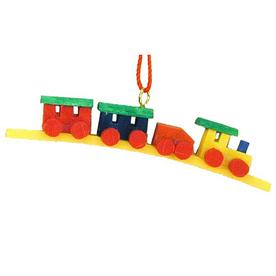 Alexander Taron Multicolor Plastic Train Ornament