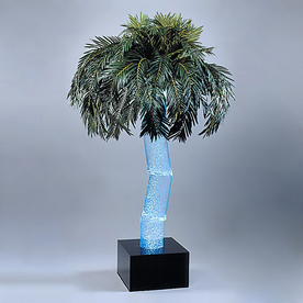 midwest tropical Palm Pre-Lit Decorative Specialty Tree with Multicolor Lights ENERGY STAR