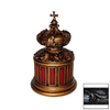 Hickory Manor House Black Round Crown Decorative Box