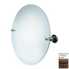 Allied Brass Astor Place 22-in W x 22-in H Round Tilting Frameless Bathroom Mirror with Antique Bronze Hardware and Beveled Edges