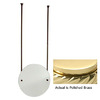 Allied Brass 22-in H x 22-in W Round Frameless Bathroom Mirror with Beveled Edges